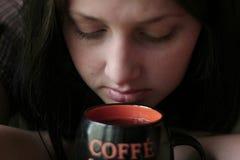 девушка кофе Стоковое Фото
