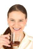 девушка кофе Стоковое фото RF