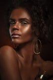 Девушка красотки способа шикарная женщина портрета Стильная стрижка Стоковые Изображения RF