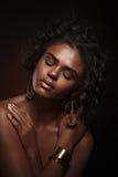 Девушка красотки способа шикарная женщина портрета Стильная стрижка Стоковые Фото