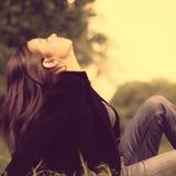 Девушка красоты весны Стоковые Изображения RF
