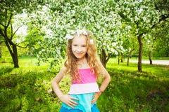 Девушка красоты на весне Стоковое Изображение