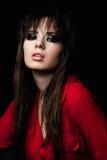 Девушка красоты с закоптелыми глазами Стоковая Фотография