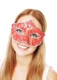 Девушка красоты с маской стоковое изображение