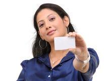 девушка кредита карточки подростковая Стоковые Изображения