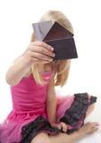 девушка кредита карточки стоковое фото