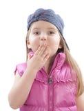 девушка крышек меньший рот Стоковые Изображения RF