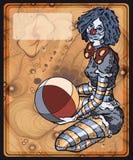 Девушка клоуна Иллюстрация вектора