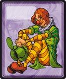 Девушка клоуна Иллюстрация штока