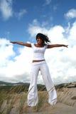 девушка летания милая Стоковое Изображение RF