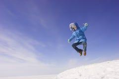 девушка летания Стоковая Фотография RF