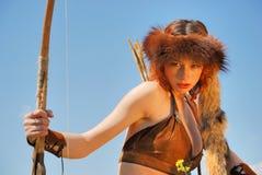 девушка лучника стоковое изображение rf