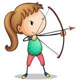 Девушка лучника Стоковое Изображение