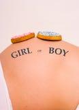 девушка мальчика печенья Стоковое Изображение