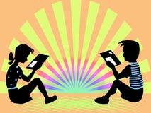 девушка мальчика прочитала Бесплатная Иллюстрация