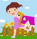 девушка медведя меньший игрушечный Стоковое Фото