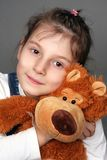 девушка медведя Стоковое фото RF