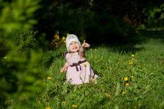 девушка меньший парк Стоковые Фото