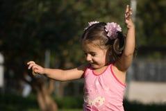 девушка меньший парк Стоковые Фотографии RF
