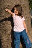 девушка меньший парк Стоковое Фото