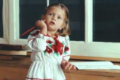 девушка меньший портрет Стоковое Фото