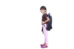 девушка меньшяя готовая школа стоковое изображение
