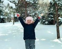 девушка меньшяя зима времени Стоковое Изображение RF