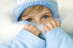 девушка меньшяя зима портрета Стоковая Фотография RF