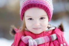 девушка меньшяя зима портрета Стоковое Изображение