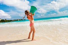 девушка меньшяя каникула стоковые изображения rf