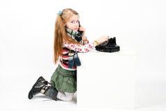девушка меньшяя милая студия съемки Стоковые Изображения RF