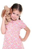 девушка меньшяя мягкая игрушка стоковое фото rf