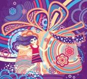 Девушка мечты праздников. Стоковые Изображения RF