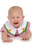 девушка младенца красивейшая плача Стоковое Изображение