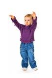 девушка младенца милая достигая что-то стоковые фотографии rf