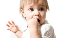 девушка младенца милая один год Стоковые Изображения RF