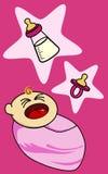девушка младенца плача Стоковые Фотографии RF