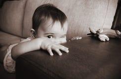 девушка младенца смешная Стоковые Изображения