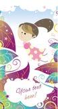 Девушка многоточия польки fairy иллюстрация вектора