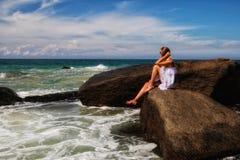 Девушка моря Стоковая Фотография