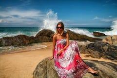 Девушка моря Стоковые Фотографии RF