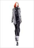 Девушка моды вектора Стоковое Фото