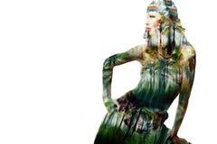Девушка моды джунглей Стоковое Фото