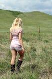 девушка напольная стоковое изображение