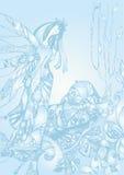 Девушка нарисованная рукой Стоковая Фотография