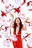 Девушка наслаждается дождем стоковое изображение rf