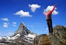 Девушка на верхней части Стоковое Изображение