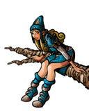 Девушка на ветви Иллюстрация вектора
