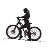 Девушка на велосипеде Стоковое Фото