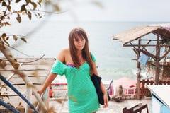 Девушка на каникуле Стоковые Изображения RF